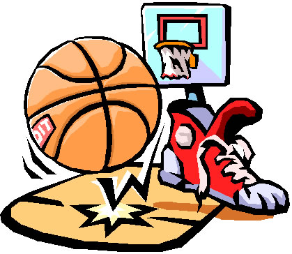 419x364 Girls Basketball Clipart
