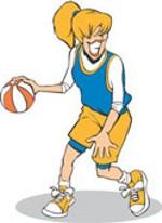 150x206 Girls Basketball Clipart