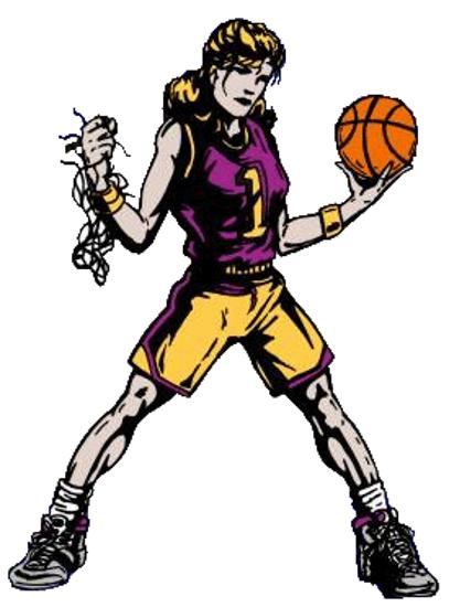407x550 Girls Basketball High School Clipart