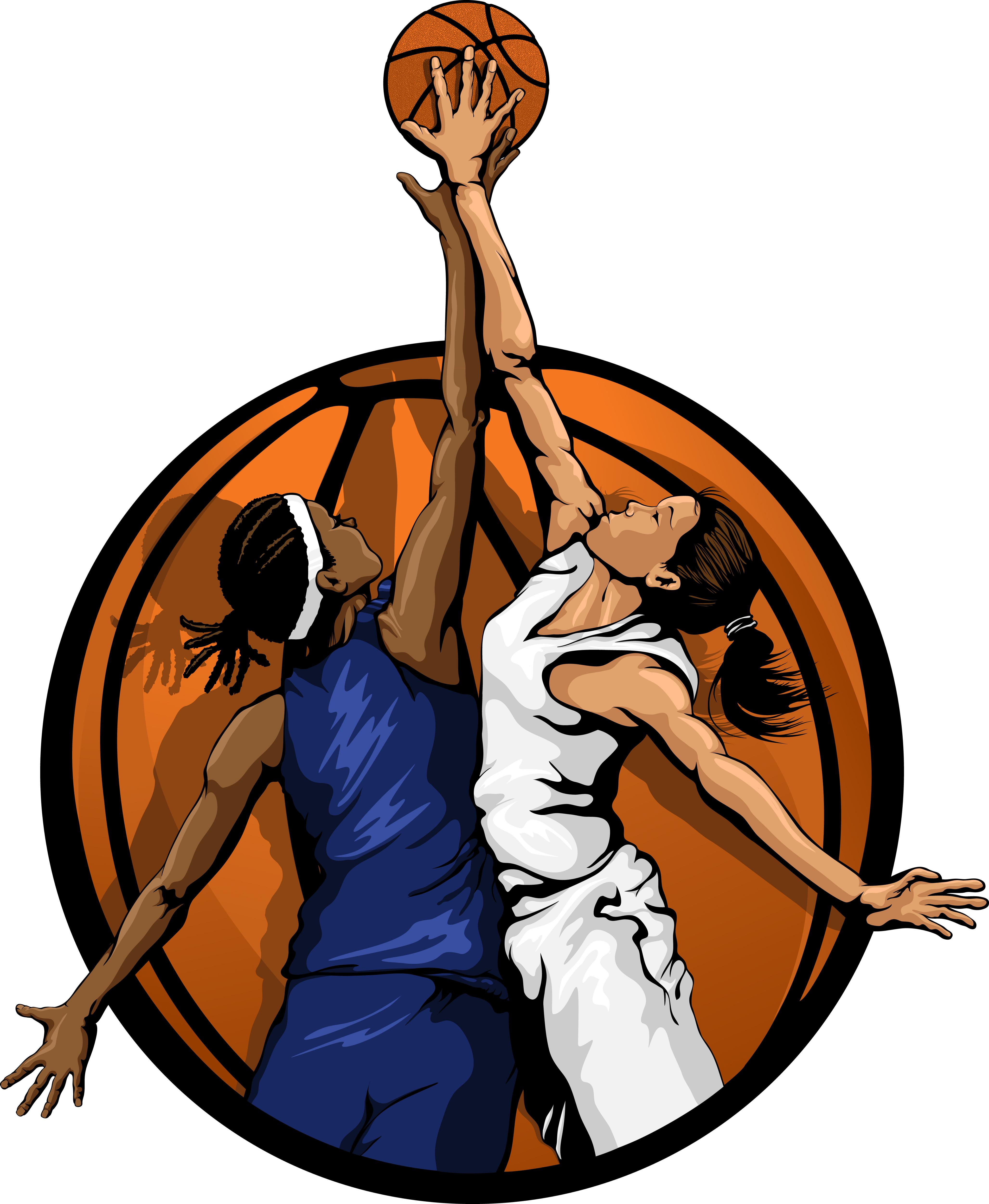 4110x5000 Girls Basketball Home Clip Art