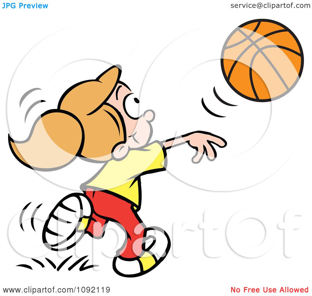1080x1024 Girl Shooting Basketball Clipart
