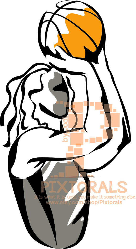 570x1039 Girls Basketball Player Eps File Vector Jpeg Png By Pixtorals