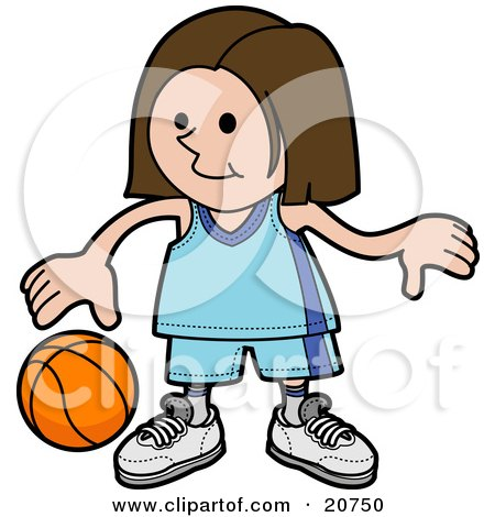 450x470 Royalty Free (Rf) Girls Basketball Clipart, Illustrations, Vector