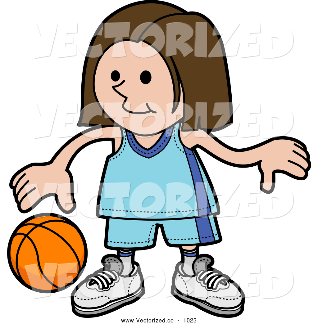 1024x1044 Royalty Free Clipart Of A Cute Sporty Girl In A Blue Uniform