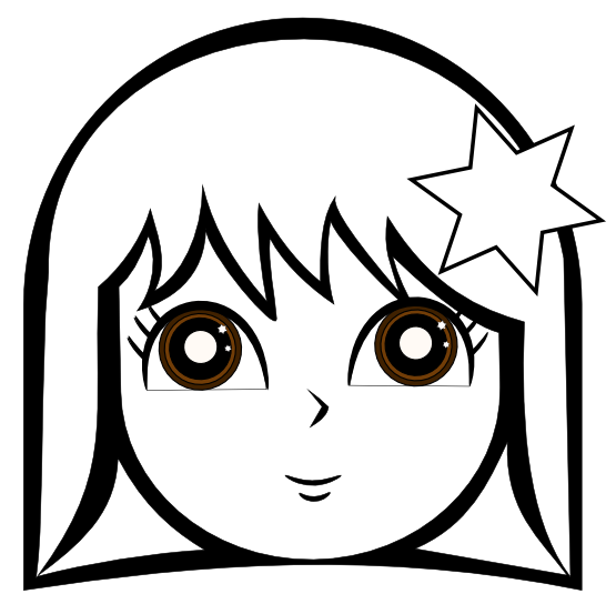 555x553 Girl Clipart Black And White