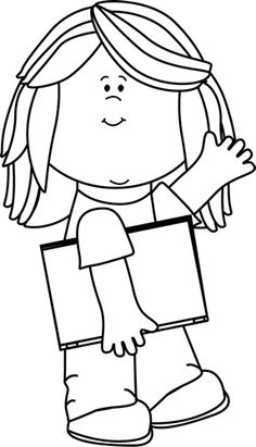 236x411 Girl Black And White Clipart