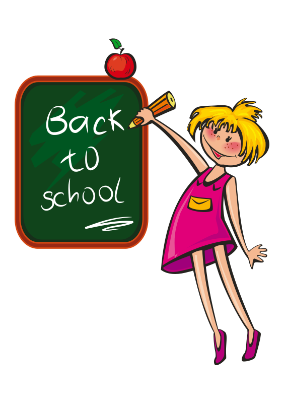 566x800 Free School Girl Back To School Clip Art