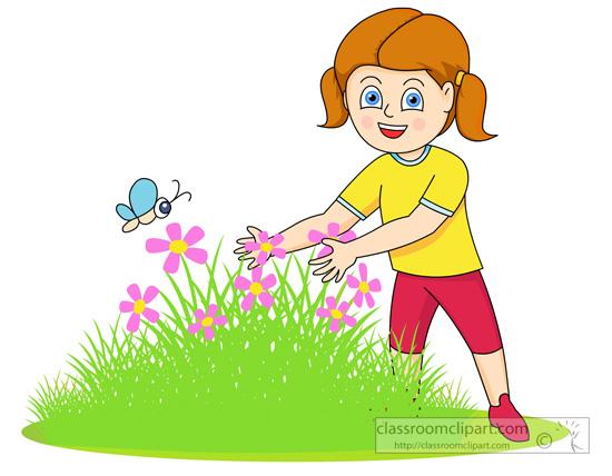 550x428 Girl Clipart Gardener
