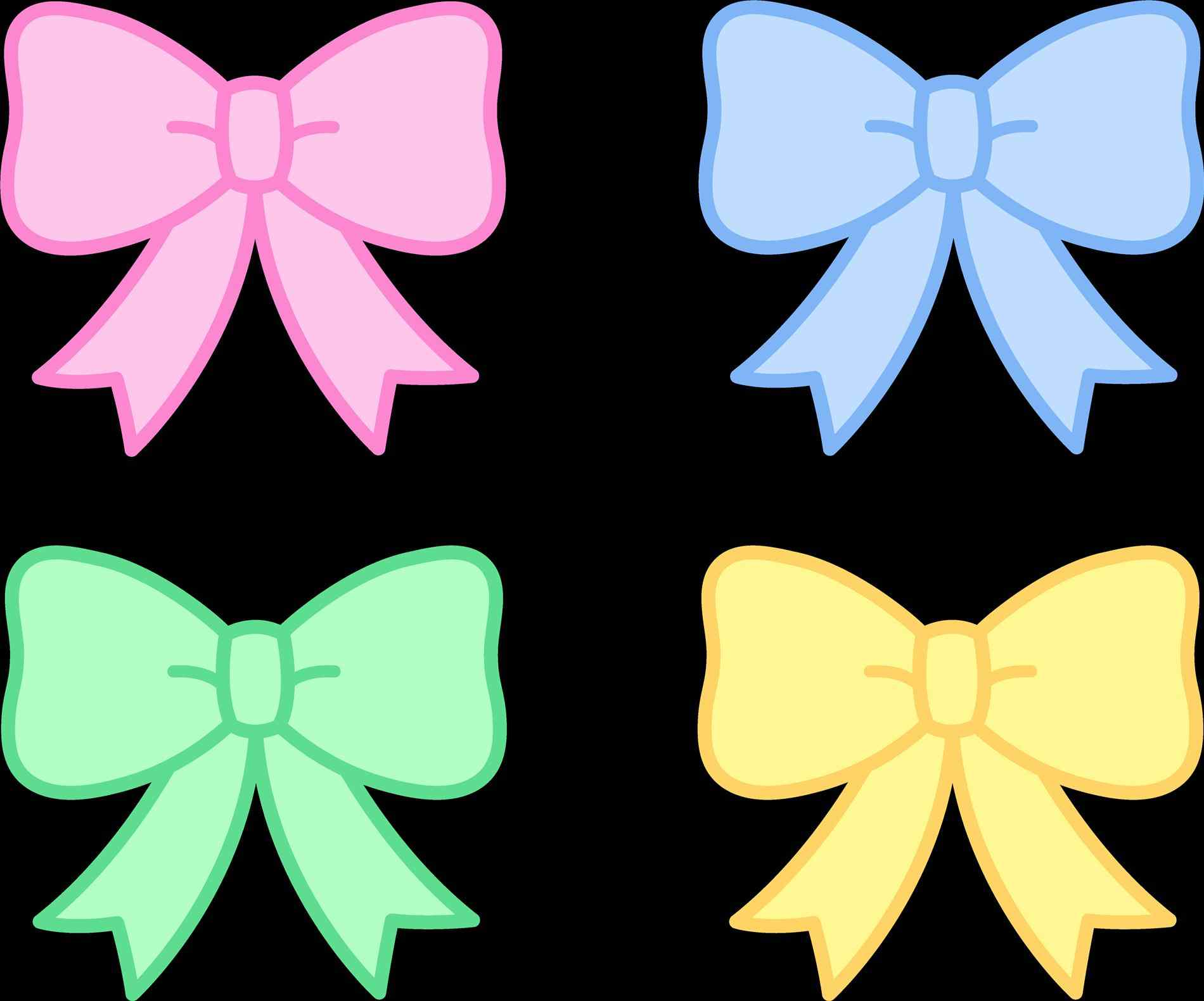 1900x1580 Bows For Girls Clipart Bow Coloring Page Free Clip Art Simple Hair