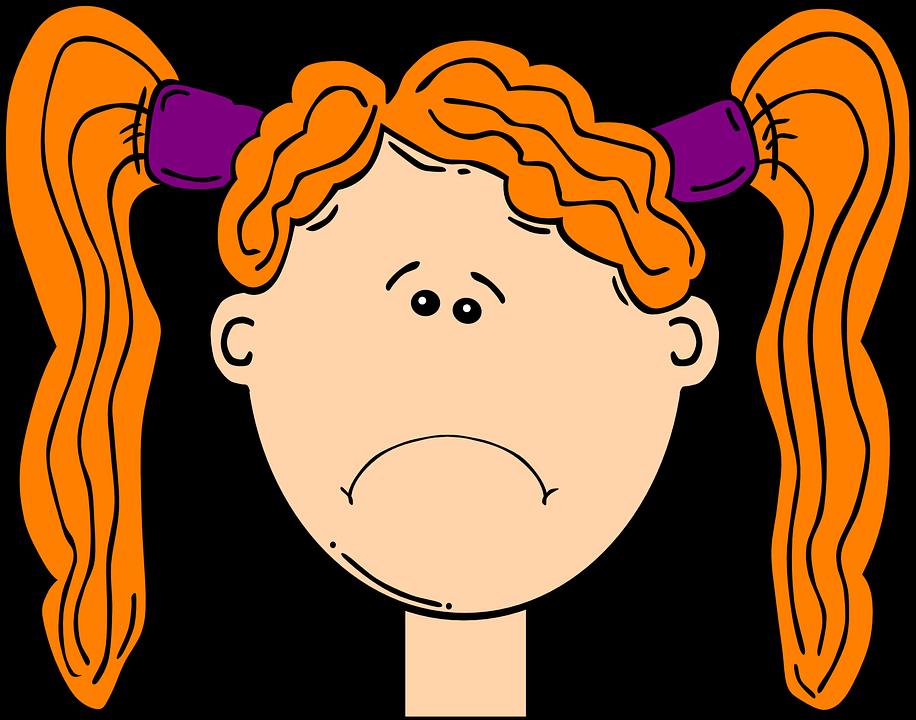 916x720 Sad Girl Face Clipart