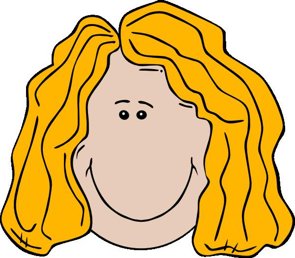 600x526 Blonde Cartoon Girl Face Clip Art