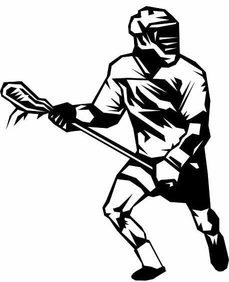 Girls Lacrosse Clipart