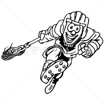 361x361 Sports Clipart Image Of Black White Kids Youth Boys Lacrosse