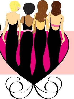 312x416 Girls Night Out Clipart