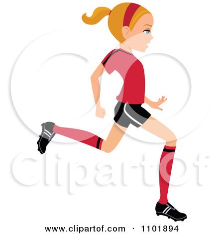450x470 Football Cartoon Woman Clipart