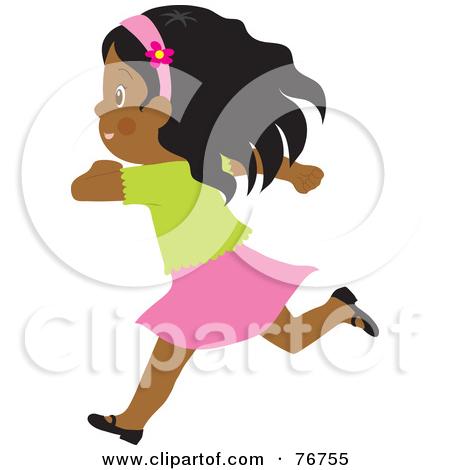 450x470 Free Running Girl Clipart