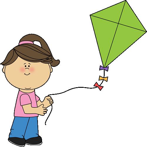 500x499 Girl Flying A Kite Spring Amp Summer Printables