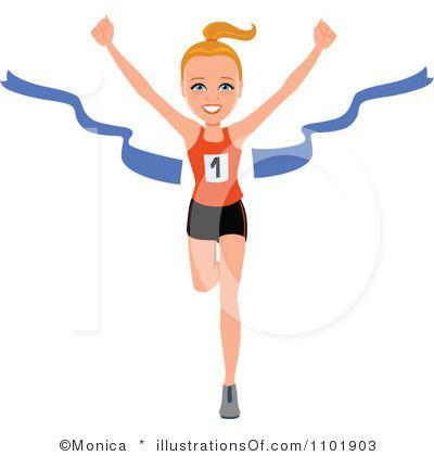 400x420 Girl Marathon Runner Clipart