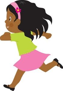 210x300 Girl Running Clipart Clipart Panda