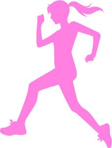 227x300 Girl Running Fast Clipart