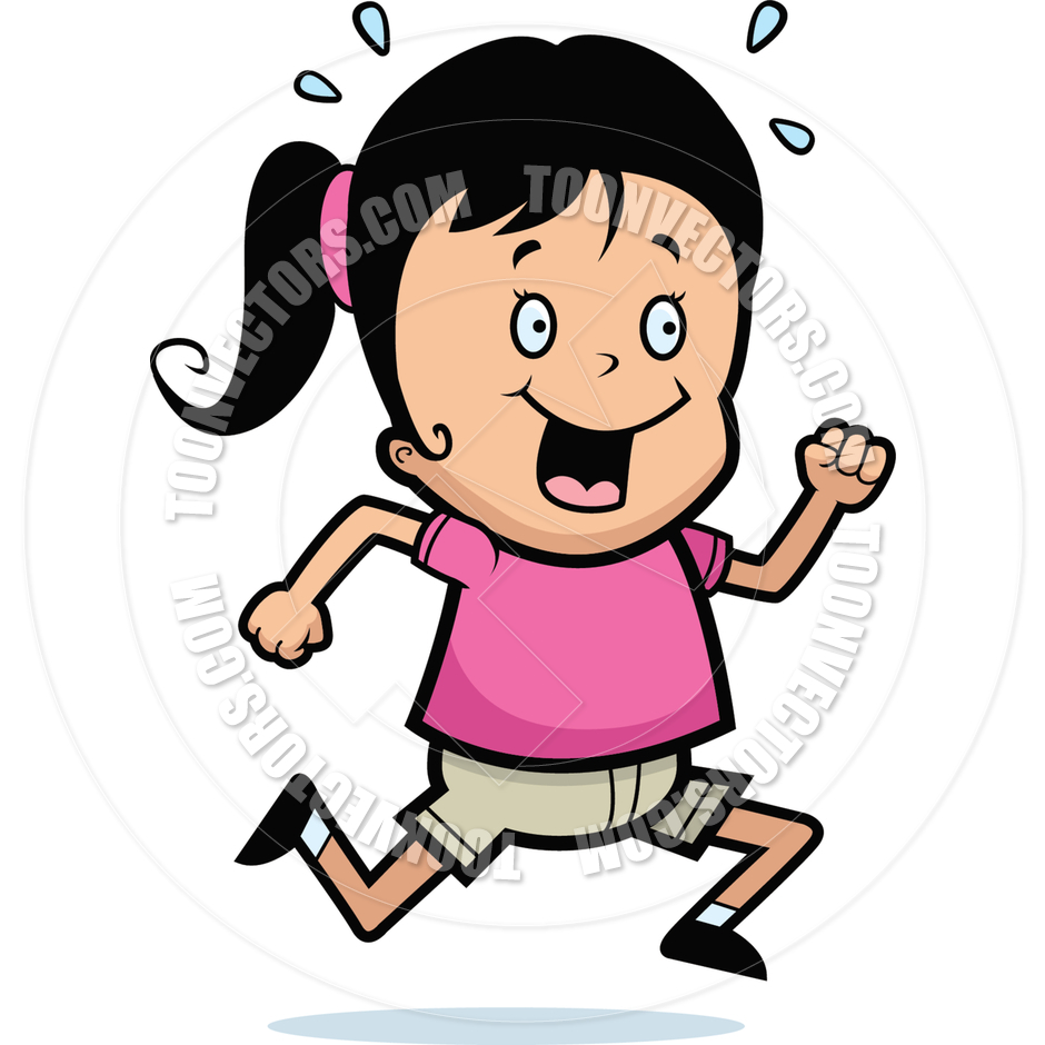 940x940 Girl Running By Cory Thoman Toon Vectors Eps