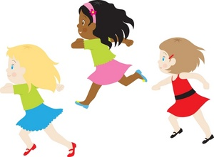 300x221 Girl Running Girls Clipart Image A Group Of Little Running