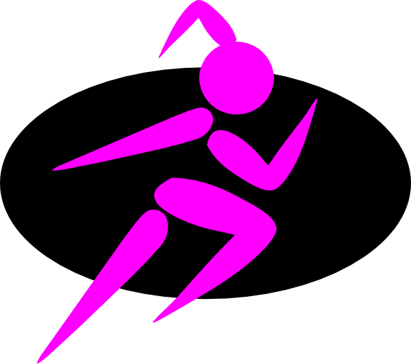 600x531 Running Girl Clipart Free