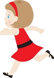 208x300 Clip Art Girl Running Clipart