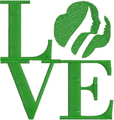 395x416 Girl Scout Love Digitized Embroidery Designs Brownie Scouts