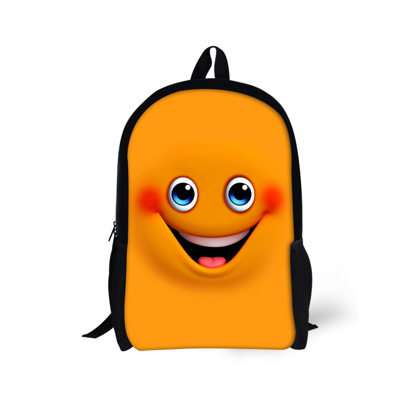 800x800 Cool Girls Backpack Designer Emoji Smiley Face Backpack For School