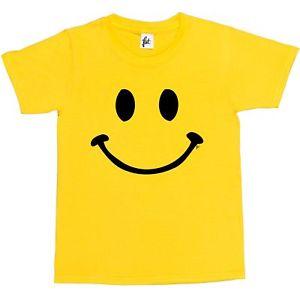 300x300 Retro Happy Funny Smiley Face Kids Boys Girls T Shirt Ebay