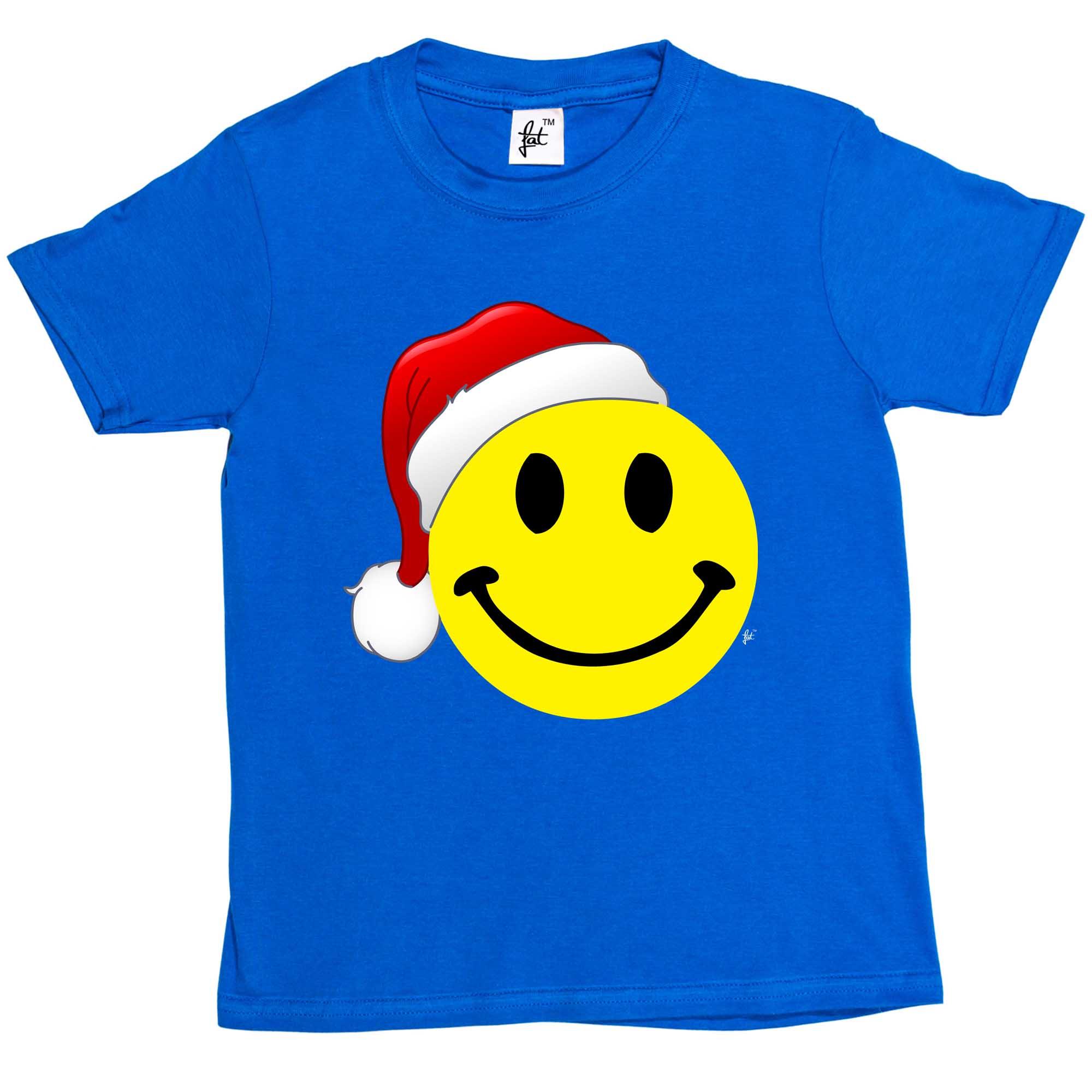 2000x2000 Retro Smiley Face Wears Santa Hat Merry Christmas Kids Boys