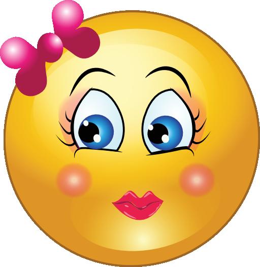 512x526 Shy Smiley Face Clip Art