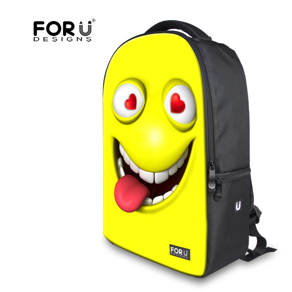 1000x1000 Trendy Fashion Funny Emoji Face Teenagers Backpack Bright Smiley