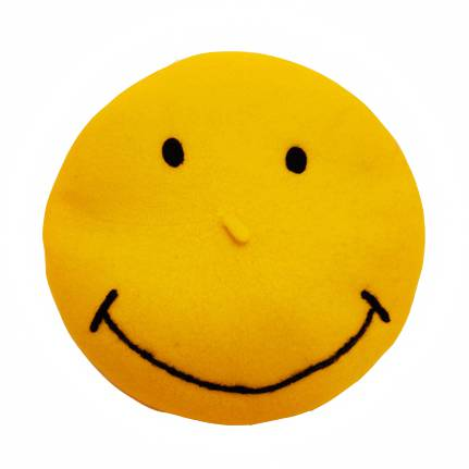 431x431 Yellow Smiley Face Beret Hat For Girls Funny Emoji Hats With Eyes