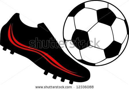 450x314 Soccer Cleat Clip Art Stock Vector Soccer Shoes The Ball