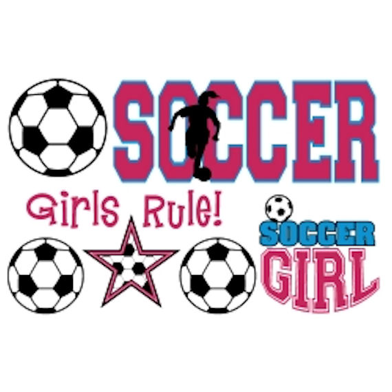 570x570 Soccer Girl Clipart Olee Kids Girls Soccer Sports Pack Peel
