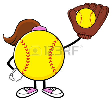 Girls Softball Clipart