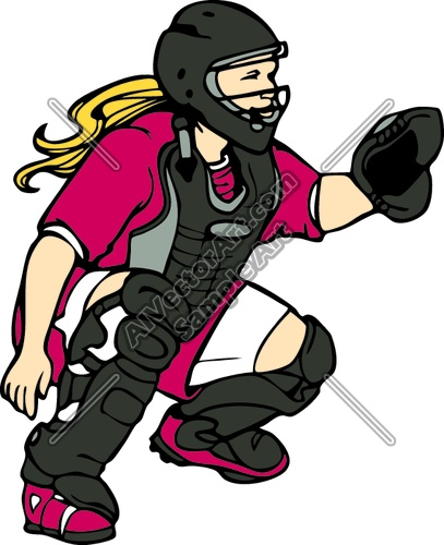407x500 Rolling Softball Clipart