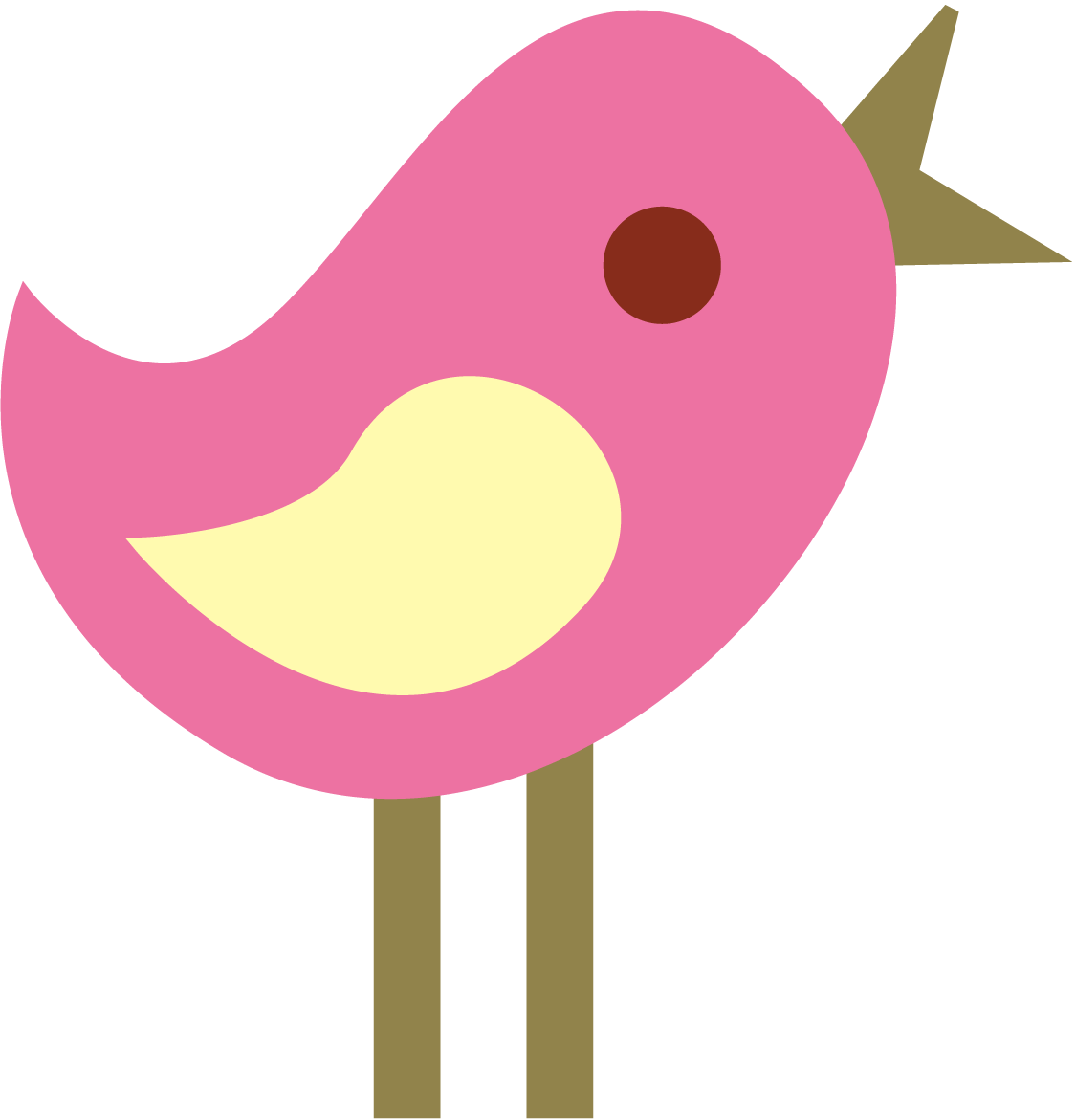 1125x1171 Cute Bird Clipart