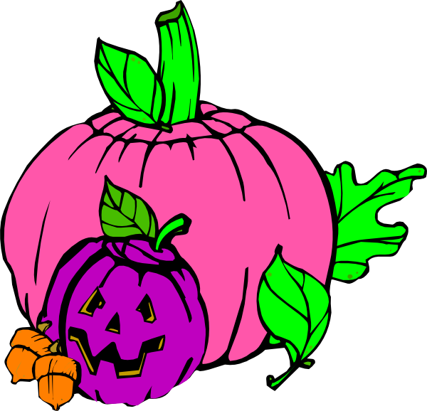 600x578 Girly Pumpkin Clip Art