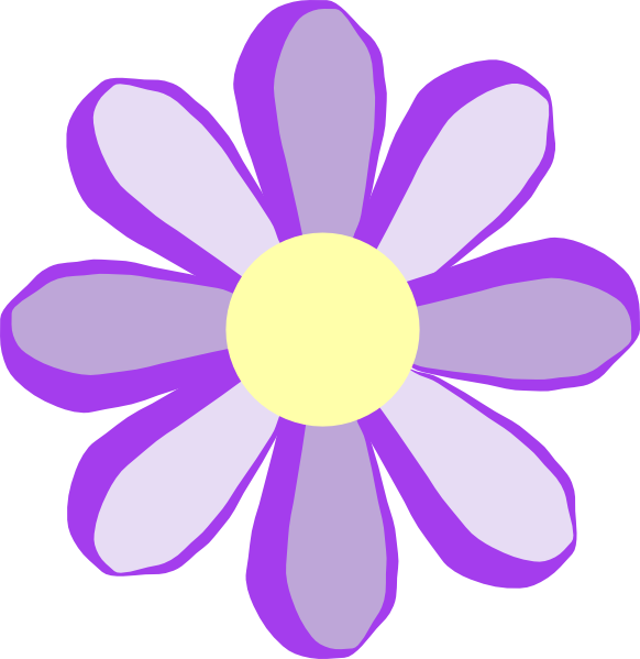 582x599 Pink Flower Clipart Girly Flower