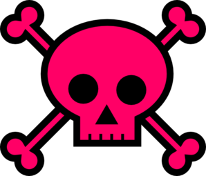 298x255 Skull With Crossbones Clip Art