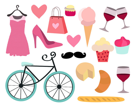 570x456 Paris Clipart Feminine Clipart Girly Clipart Bike By Clipartkiwi