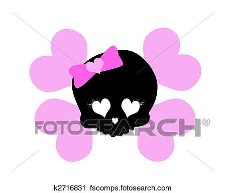 450x384 Best Of Girly Clip Art Clipart Of Lovely Girly Skull K Search Clip