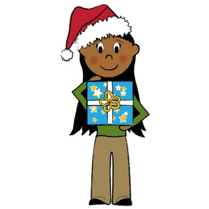 300x300 Free Christmas Present Clip Art Image