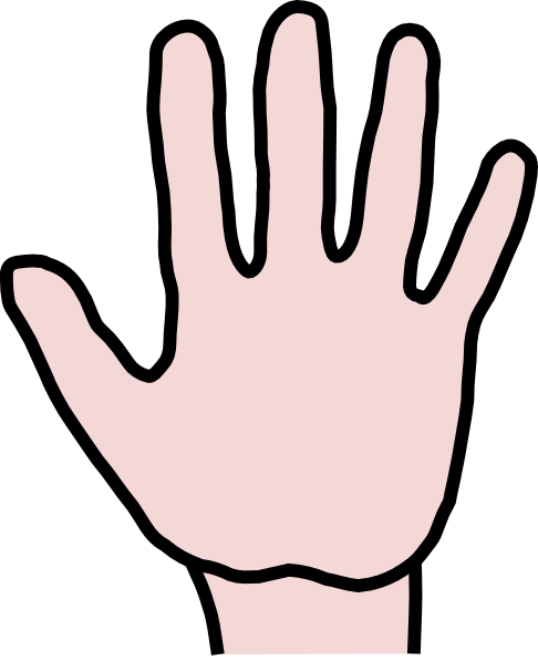 486x597 Open Hand Clip Art