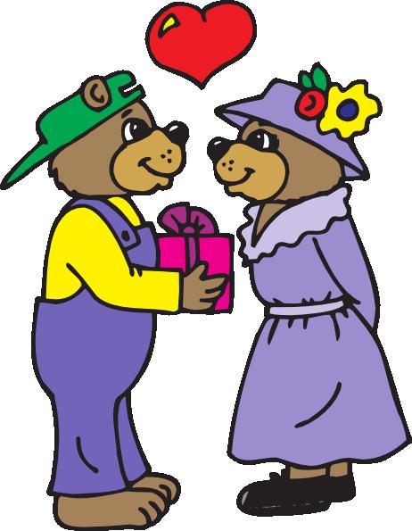 462x595 Bear Giving A Gift Clip Art
