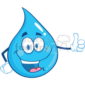 300x300 Royalty Free Royalty Free Rf Clipart Illustration Happy Water Drop