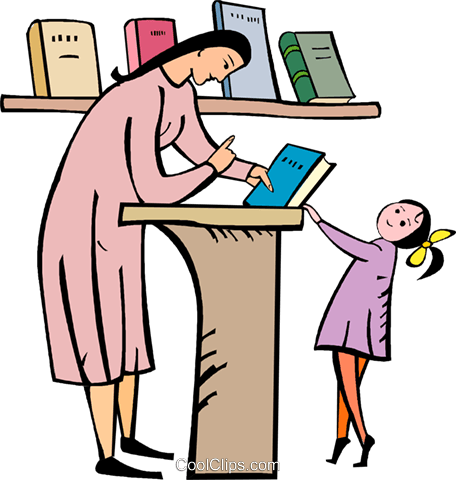 456x480 Teacher Giving A Book To A Student Royalty Free Vector Clip Art